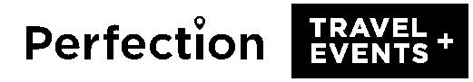perfection travel logo white